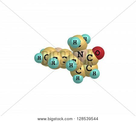 Cotinine is an alkaloid found in tobacco and is also a metabolite of nicotine. The word - cotinine is an anagram of nicotine. 3d illustration