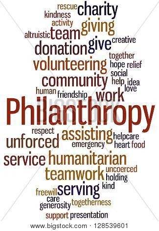 Philanthropy, Word Cloud Concept 10