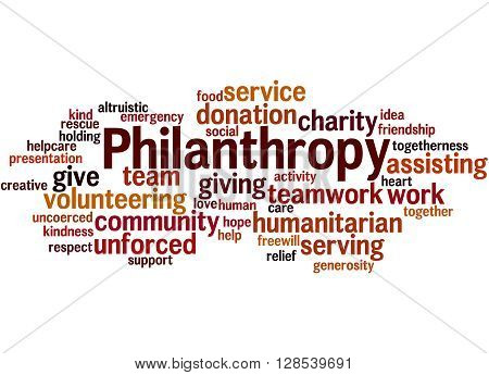 Philanthropy, Word Cloud Concept 8