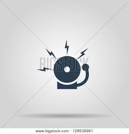 alarm bell. Modern design flat style EPS