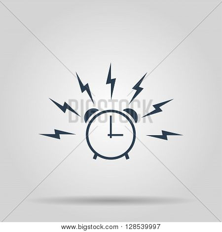 Alarm clock sign wake up icon illustration