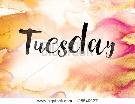 Tuesday Concept Watercolor Theme