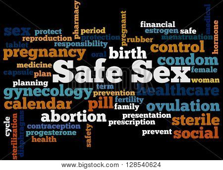 Safe Sex, Word Cloud Concept 8