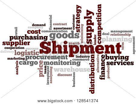 Shipment, Word Cloud Concept 6