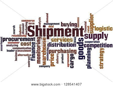 Shipment, Word Cloud Concept 8