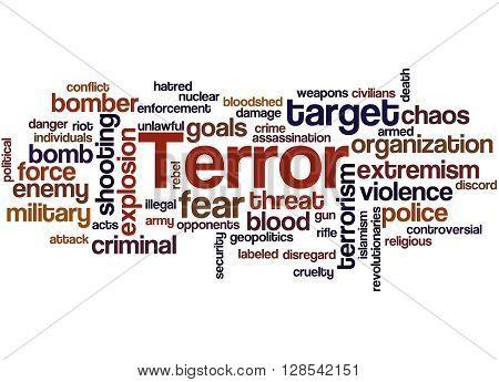 Terror, Word Cloud Concept 7