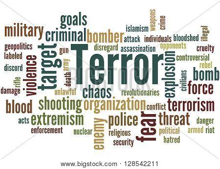 Terror, Word Cloud Concept 8