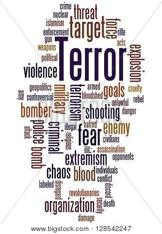 Terror, Word Cloud Concept 9
