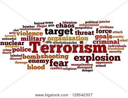 Terrorism, Word Cloud Concept