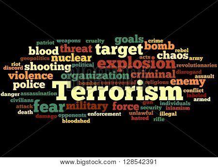 Terrorism, Word Cloud Concept 3