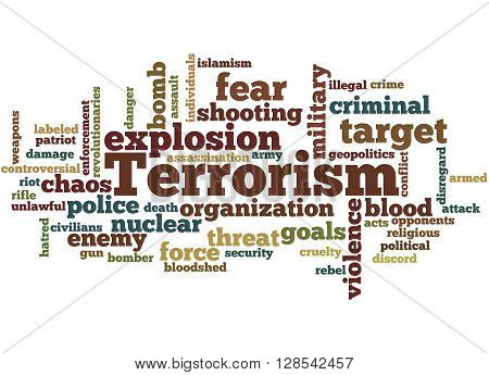 Terrorism, Word Cloud Concept 5