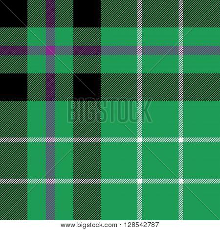 hibernian fc tartan fabric textile check pattern seamless.Vector illustration. EPS 10. No transparency. No gradients.