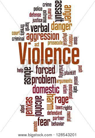 Violence, Word Cloud Concept 3