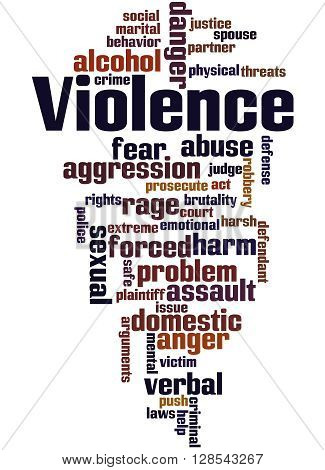Violence, Word Cloud Concept 9