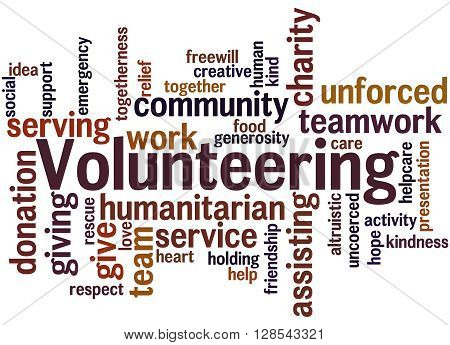Volunteering, Word Cloud Concept 3