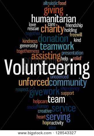Volunteering, Word Cloud Concept 4