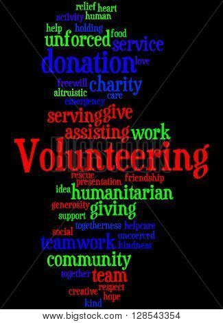 Volunteering, Word Cloud Concept 5