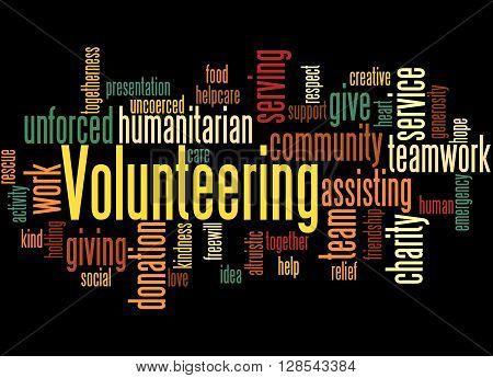 Volunteering, Word Cloud Concept 6
