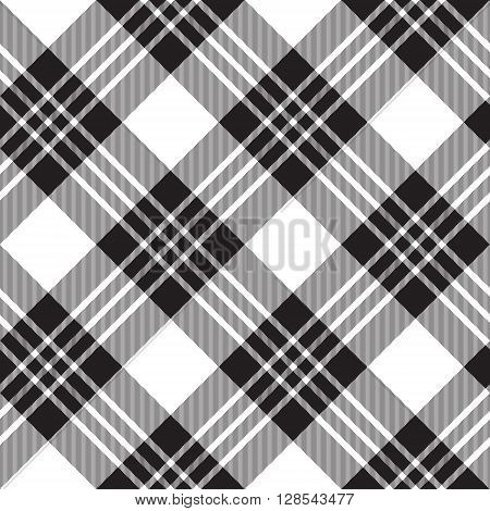 Macgregor tartan diagonal background pattern seamless.Vector illustration. EPS 10. No transparency. No gradients.