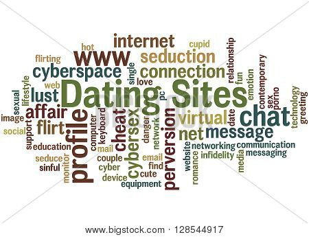 Dating Sites, Word Cloud Concept 6