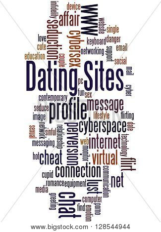 Dating Sites, Word Cloud Concept 8