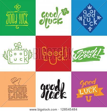 Good luck lettering set.