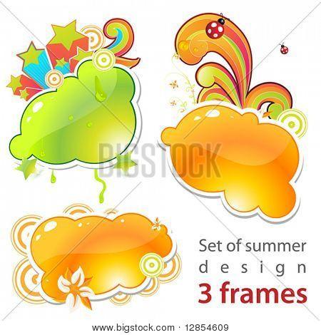 Conjunto de marcos de verano!