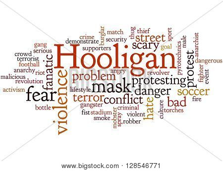 Hooligan Word Cloud, Word Cloud Concept 2