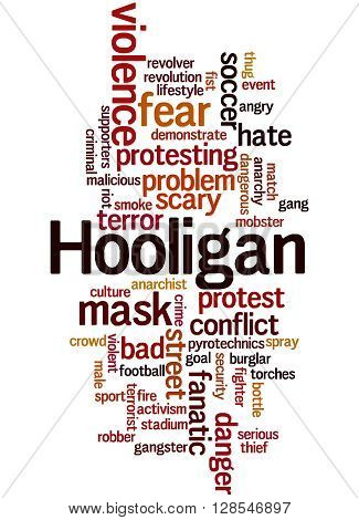 Hooligan Word Cloud, Word Cloud Concept 3