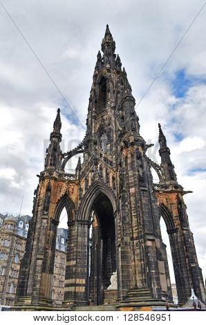 Scott Monument on the sky background, Scotland
