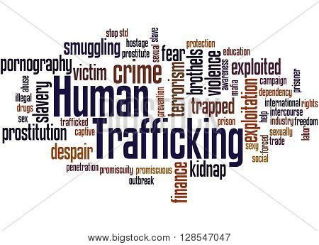 Human Trafficking, Word Cloud Concept 3