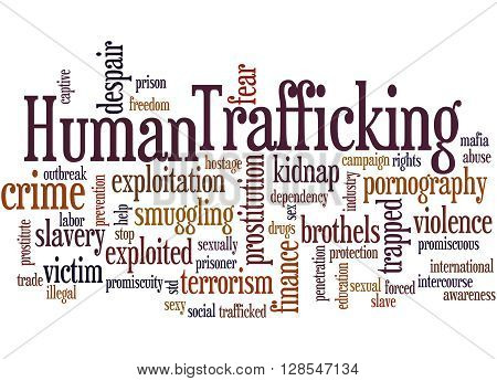 Human Trafficking, Word Cloud Concept 9