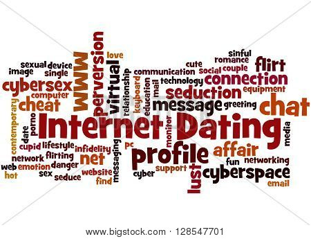 Internet Dating, Word Cloud Concept 2