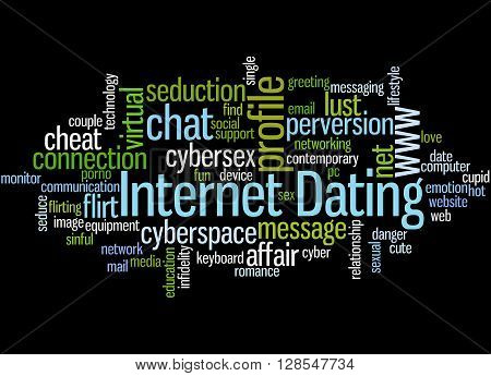 Internet Dating, Word Cloud Concept 4