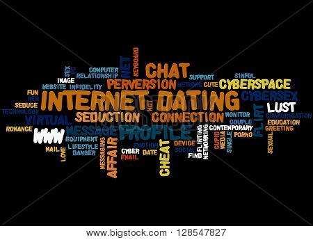 Internet Dating, Word Cloud Concept 9
