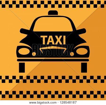 Taxi Icon Symbol raster Illustration