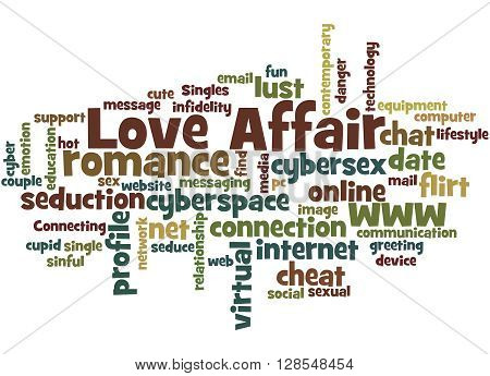 Love Affair, Word Cloud Concept 2