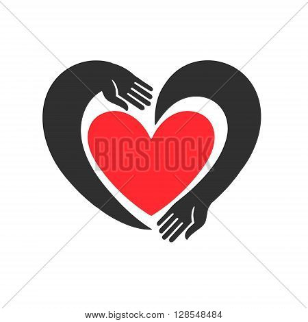 Abstract vector background. Illustration for Valentine's Day