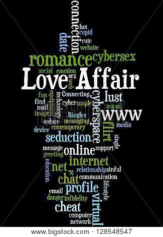 Love Affair, Word Cloud Concept 7
