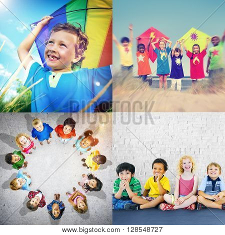 Unity Young Variation Diversity Ethnicity Children Concept
