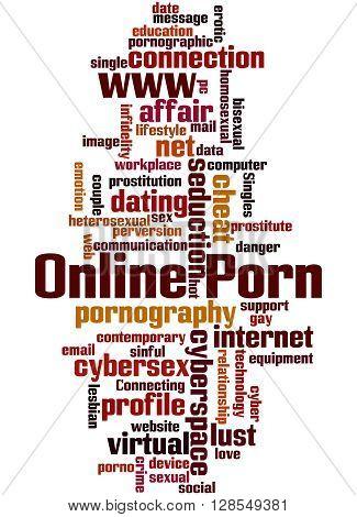 Online Porn, Word Cloud Concept