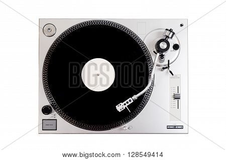 Vinyl Player On White Background