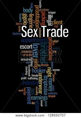 Sex Trade, Word Cloud Concept 7