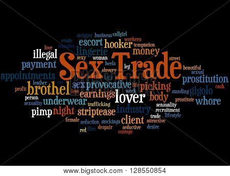 Sex Trade, Word Cloud Concept 9