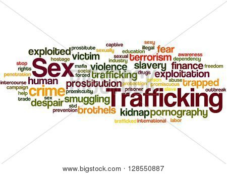 Sex Trafficking, Word Cloud Concept 3