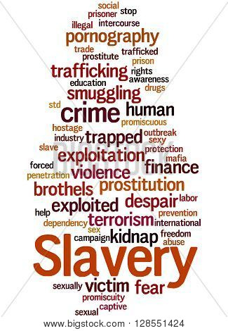 Slavery, Word Cloud Concept 4