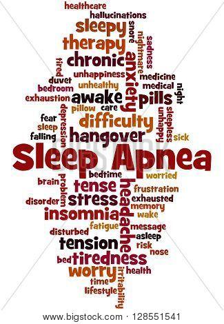 Sleep Apnea, Word Cloud Concept 3