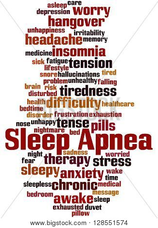 Sleep Apnea, Word Cloud Concept 5
