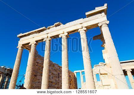 Europe Greece  Acropolis  Old Architecture