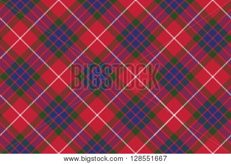 fraser tartan fabric texture seamless pattern diagonal .Vector illustration. EPS 10. No transparency. No gradients.